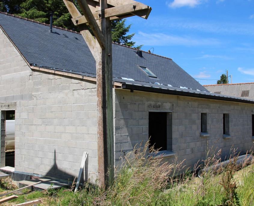 Agrandissement d'une maison en pierres - face sud-est